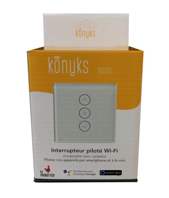 INTERI MAX Interrupteur encastrable Wi-Fi avec rétroéclairage contrôlable
