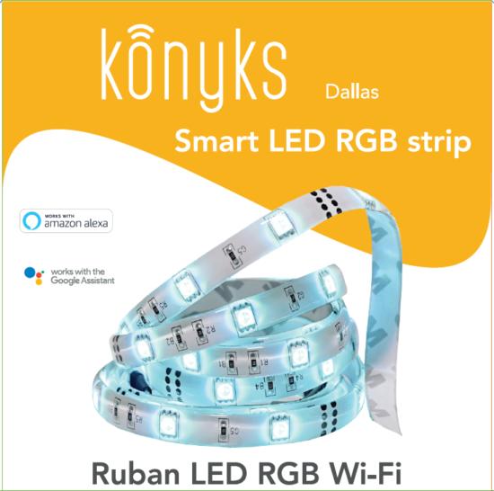 DALLAS Ruban Led connecté RGB Wi-Fi 3 mètres
