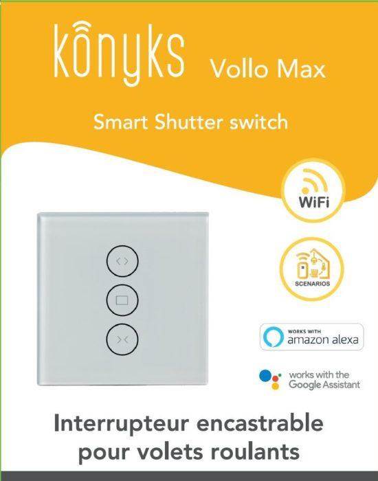 VOLLO MAX Interrupteur Wi-Fi volets roulants Rétroéclairage contrôlable