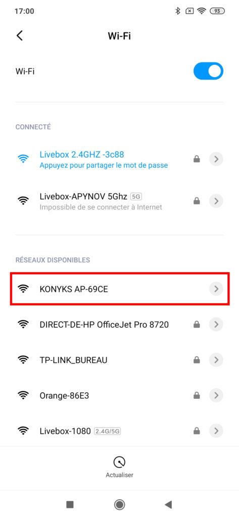 ap- mode-ssid app connecté- konyks