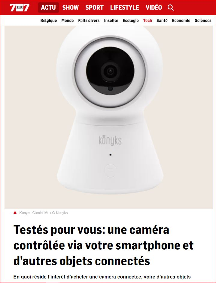 7_7 le site belge a tésté pour vous la caméra connectée camini max