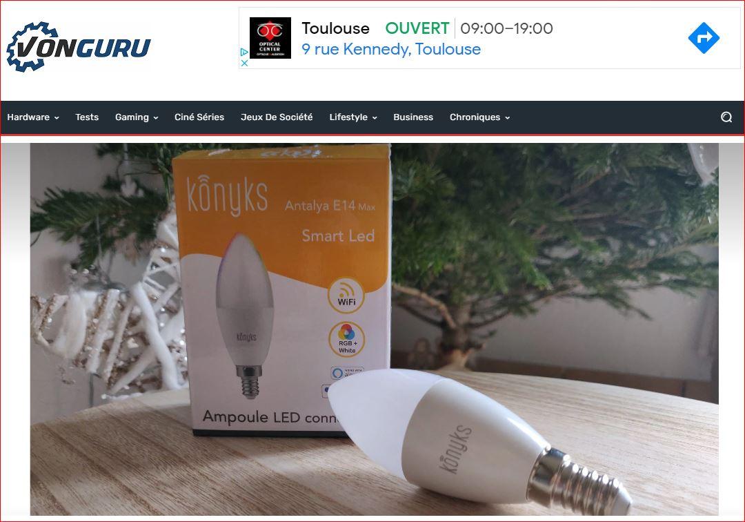🆕Vonguru parle de Antalya EASY E14 première de la nouvelle gamme d'ampoules connectées par Konyks💡