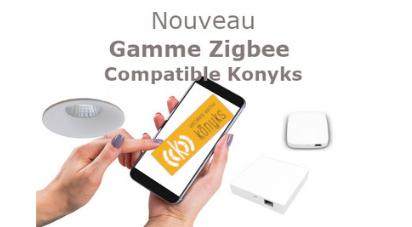 Konyks élargit son offre éclairage Zigbee en partenariat avec ASLED, spécialiste des luminaires haut de gamme