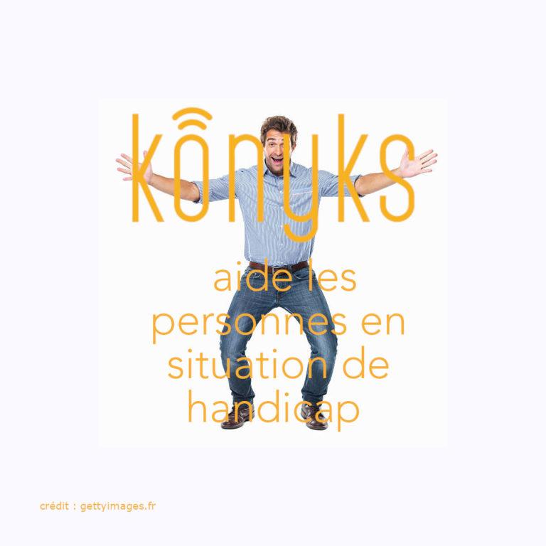 Konyks aide les personnes en situation de handicap