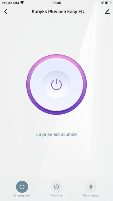 Pluviose Easy EU screen app