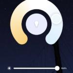 Capture d'écran de l'app, réglage blanc froid, ambiance lumineuse
